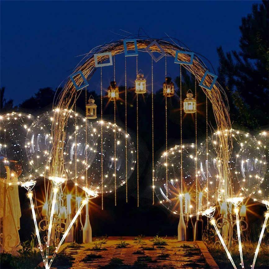 Многоразовый светящийся светодиодный шар прозрачный Круглый Декоративные пузырьки вечерние свадебные светодиодный воздушный шар Рождественский подарок + 2 xSticks Nov #3