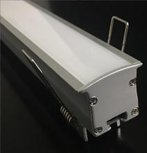 Free Shipping hot selling aluminum profile with milky cover and metal clips and end caps for LED bar Light LED Linear Light
