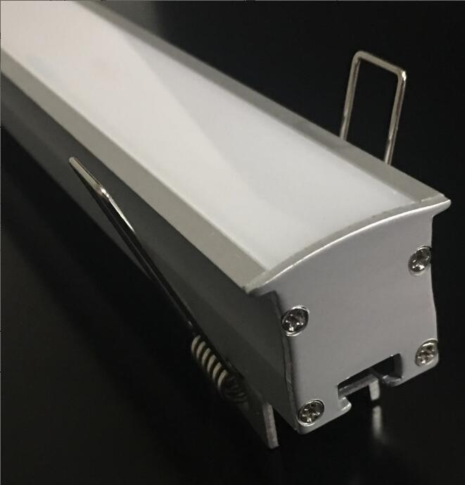 Free Shipping hot selling aluminum profile with milky cover and metal clips and end caps for LED bar Light LED Linear Light цена и фото