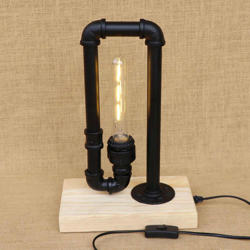Старинная водопроводная труба стимпанк настольные лампы с выключателем e27/e26 led AC 110 V/220 V настольная лампа для постели офиса кафе
