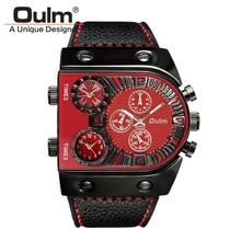Hommes de Montres Hommes Quartz Sport Casual Bracelet En Cuir Montre-Bracelet Homme Multi-fuseau horaire Militaire Mâle Horloge relogios