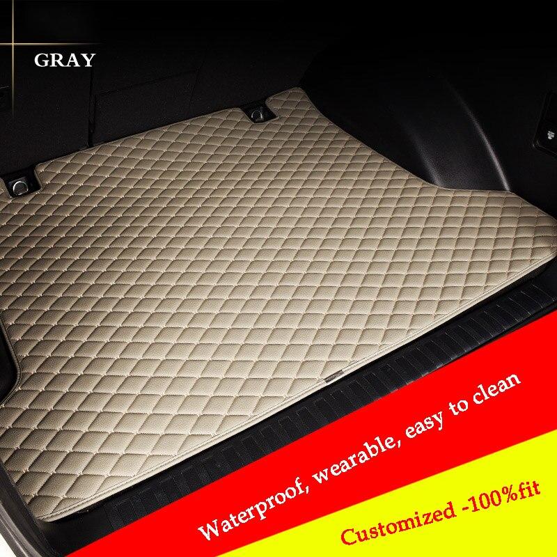 HLFNTF Custom Car Trunk Mat For for Audi a4 b6 a6 c5 b8 A6L R8 Q3 Q5 Q7 S4 Quattro A1 A2 A3 A4 A6 A8 car styling car accessores|  - title=