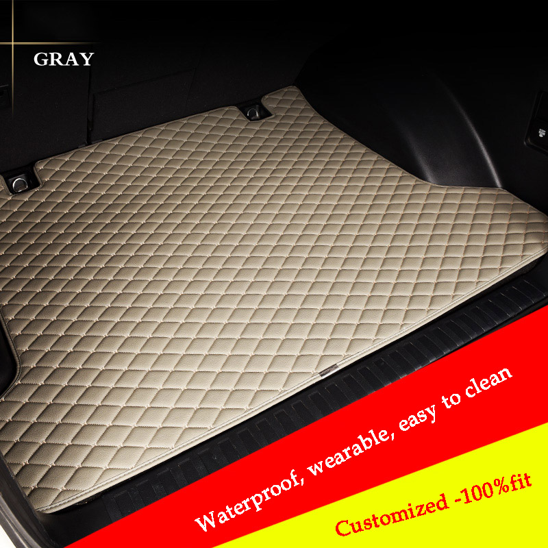 HLFNTF Custom Car Trunk Mat For Hyundai Tucson Ix35 Elantra Terracan Accent Azera Lantra Car Accessories Arpet Rugs All Weather