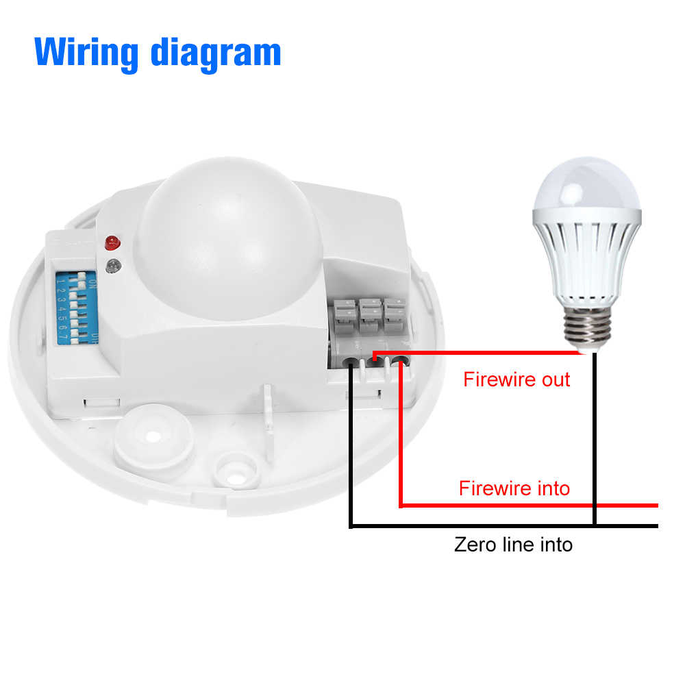 hight resolution of  ac220 240v microwave radar sensor light switch ceiling occupancy pir body motion detector 360 degree