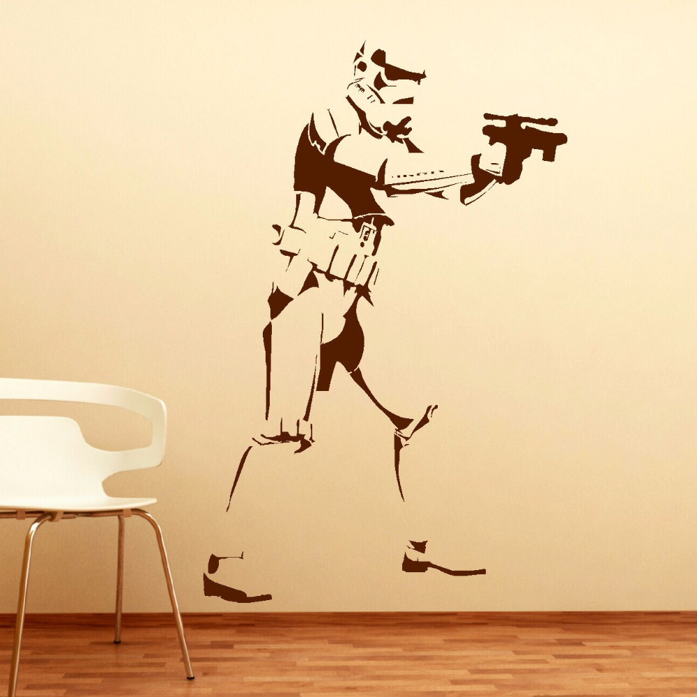EXTRA LARGE STORM TROOPER STAR WARS LIFE SIZE VINYL STICKERS WALL ...