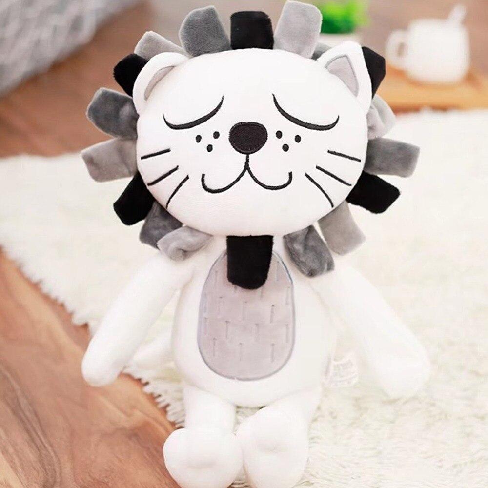 Animaux en peluche doux lion jouets en peluche oreiller Animal chat enfants bébé cadeaux