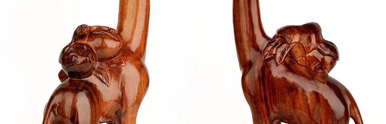 Jacarandá artesanato em madeira esculpida bat Pêssego-Em