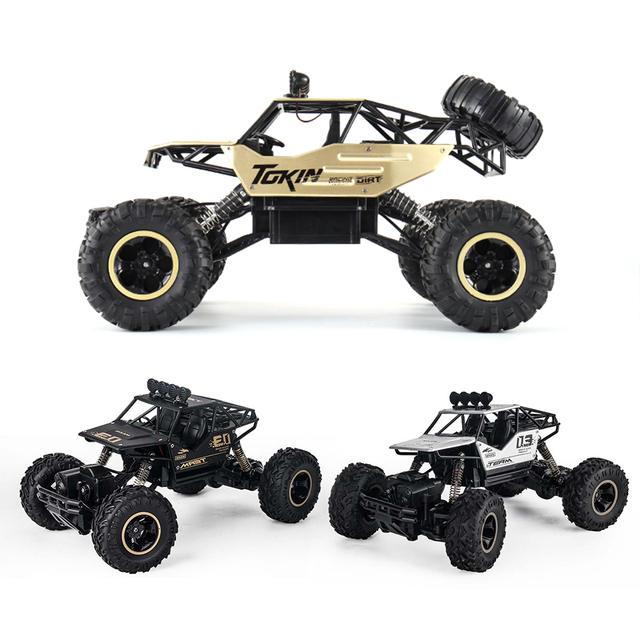 4WD Electric RC Car Rock Crawler Remote Control Toy Cars The Radio Controlled 4x4 Drive RC Car Toys For Boys Kids Suprise Gift 4