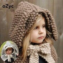 Dětská zimní pletená čepice s oušky