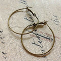 (orders over $10) Free Nickel ~ 35MM 100Pcs Vintage Bronze Earrings Hoops Hooks & Clasps Jewelry Accessories