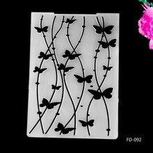 2017 New Arrival Scrapbook Butterfly lines Design DIY Paper Cutting Dies Scrapbooking Plastic Embossing Folder fd087