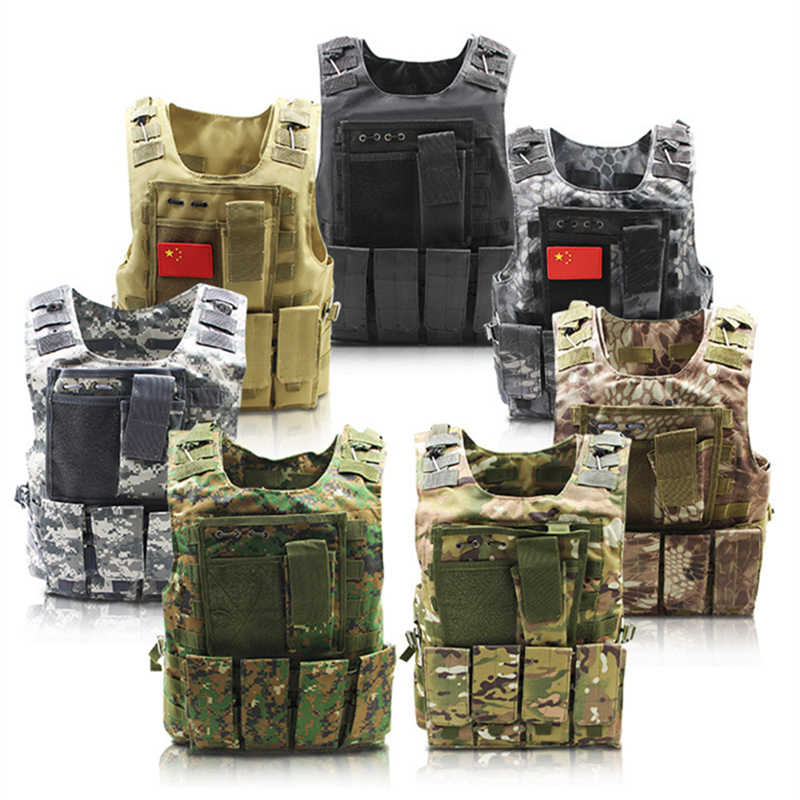 military tactical vest navy seals cs paintball airsoft jungle equipment  assault camouflage clothes army swat polices
