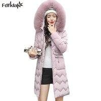 New 2017 Winter Coat Women Long Cotton Jacket Wadded Female Coat Thick Warm Winter Jacket Women
