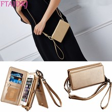 FTAIDKJ Women PU Leather Case For iPhone XS Max XR 10 X Multifunction Wallet Card Phone Bag Flip Cover for 7 8 6 6S Plus