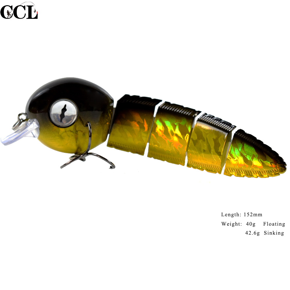 CCL Perfect 6 inch 40g Multi Jointed Fishing Lures Swimbait Wobbler Bait Fishing Lures Wobbler Minnow Custom NEW