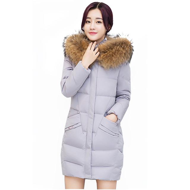 Down jacket coatnew estudantes do sexo feminino de Inverno de algodão de algodão Fino foi quentes finas de tamanho grande das mulheres na longa seção Casaco LJ742