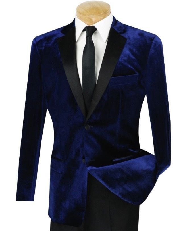 Velours bleu Royal smoking manteau hommes costume Slim Fit 40r 42r 44r 46r 46l 48l personnalisé