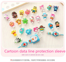 300pcs/lot USB cable Earphones Protector colorful Cover For iphone android Data Line Protection sleeve free shipping