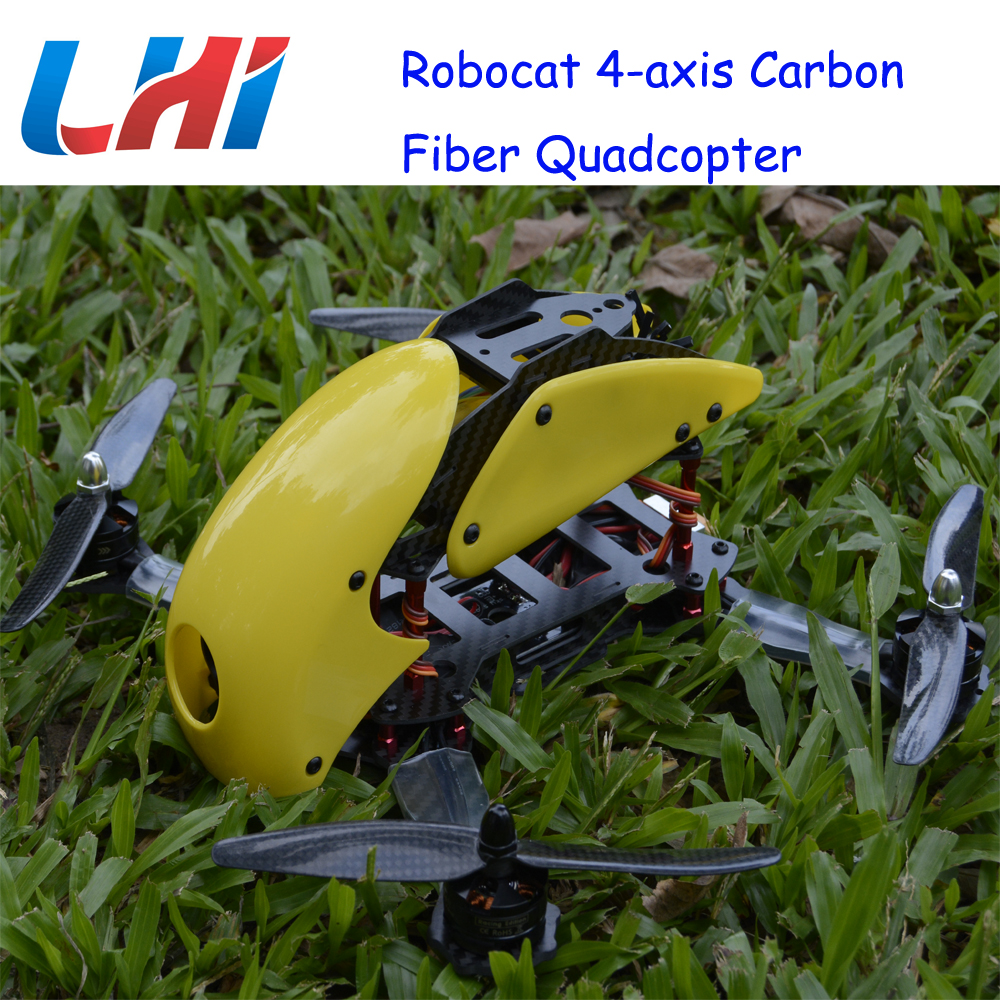 Lipo Brushless Servo Drone Rc Plane Robocat Rtf Pdb 270 280 4-axis Carbon Fiber fpv Quadcopter Cc3d 2204 12a Props Airplane