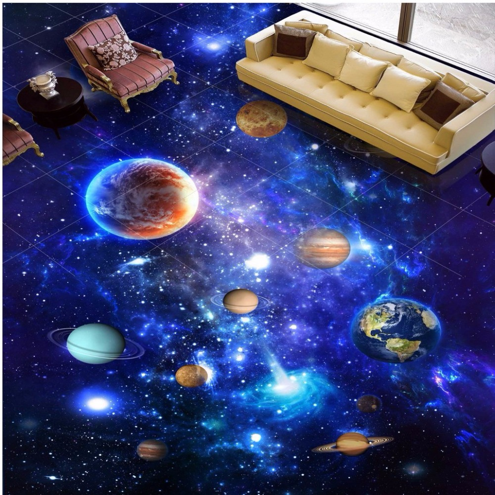 Free shipping 3d custom stereo outer space universe for 3d outer space