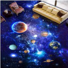 133742d7ac Frete Grátis 3D estéreo personalizado espaço Universo exterior Piso papel  de parede mural KTV corredor cafe bar pintura piso