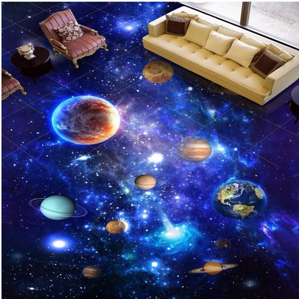 Frete Gr Tis 3d Est Reo Personalizado Espa O Universo Exterior Piso  -> Imagens Do Universo Para Papel De Parede