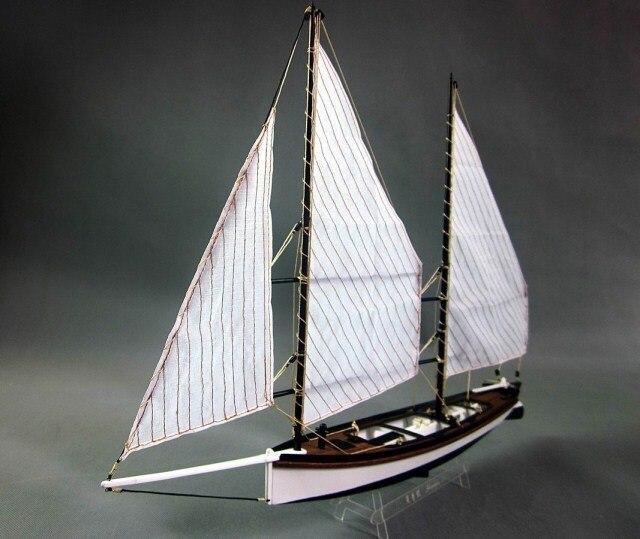 Kits de modèles de navires en bois modèle de jouet éducatif-navire-assemblage bricolage Train passe-temps modèle bateaux en bois 3d coupe Laser échelle 1/24 Sharpie