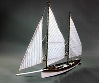Wooden Ship Model Kits Educational Toy Model Ship Assembly DIY Train Hobby Model Boats Wooden 3d Laser Cut Scale 1/24 Sharpie
