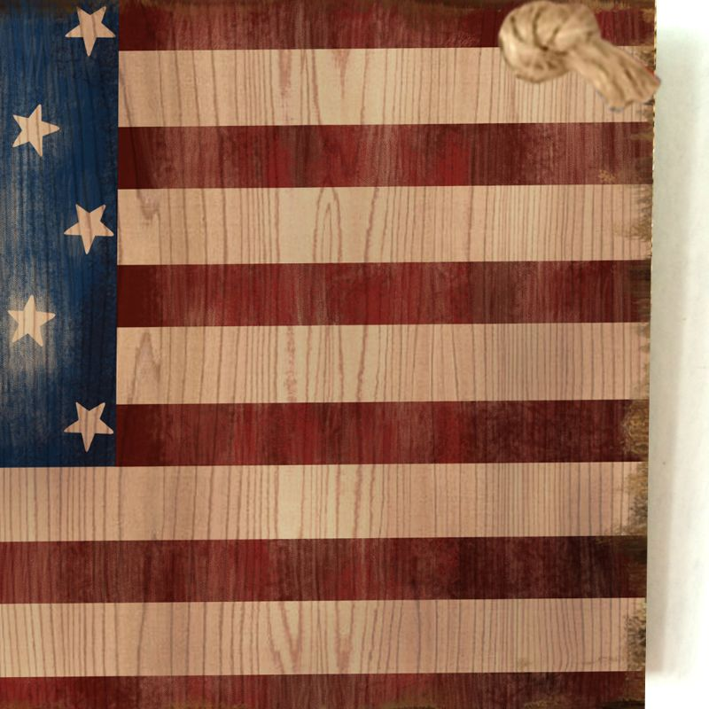 Image 4 - Vintage Wooden Hanging Plaque American Flag Sign Board Wall Door Home Decor Independence Day Party Gift-in Plaques & Signs from Home & Garden