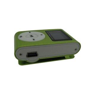 Image 4 - Sports de lecteur MP3 de Mini agrafe en métal décran daffichage à cristaux liquides avec la fente Micro de TF/SD avec lécouteur et le câble dusb lecteurs de musique MP3 portatifs