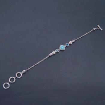 Bracelet Argent Et Larimar