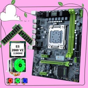 HUANANZHI X79-6M M-ATX материнская плата с двумя M.2 слот SSD компьютер с процессором Intel Xeon E5 2660 V2 2,2 ГГц 6 Трубок кулер оперативной памяти объемом до 32 GB (2*...