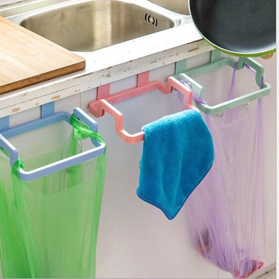 Garbage Bag Holder Hanging Kitchen Cupboard Storage Holders Racks ...