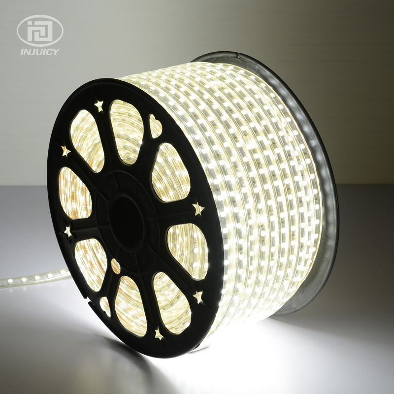100M/Roll 5050 LED Strip 110V-120V Power Warm White / Pure White Waterproof Flexible SMD5050 Led Strip 60 Leds/Metre With Plug 1w led bulbs high power 1w led lamp pure white warm white 110 120lm 30mil taiwan genesis chip free shipping