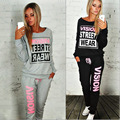 Tracksuit for Women Two Pieces Set Fashion Pink Suits Casual Cotton 2 Piece Set Women Sportwear 2016 Newest