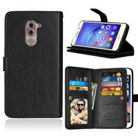 Coque Fundas 9 Card Holders Case For Huawei Honor 6X Cover PU Leather Flip Stand Multi-function Wallet Photo Frame phone Bags