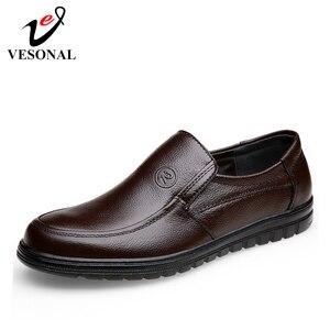 Image 2 - VESONAL 2019 קיץ נוח להחליק על עור אמיתיות גברים נעלי מוקסינים משרד עסקים שמלת פורמליות זכר נעליים
