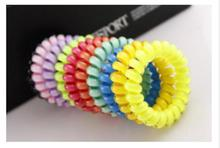 Multi-color Hair Accessories Plastic Ring Wild Phone Line Shape Girl Small Gift