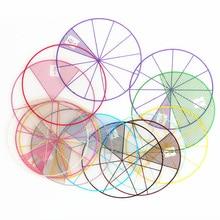 12 шт. Математика Монтессори материалы пронумерованные дроби круги фишки Монтессори Обучающие математические игрушки для детей детские подарки
