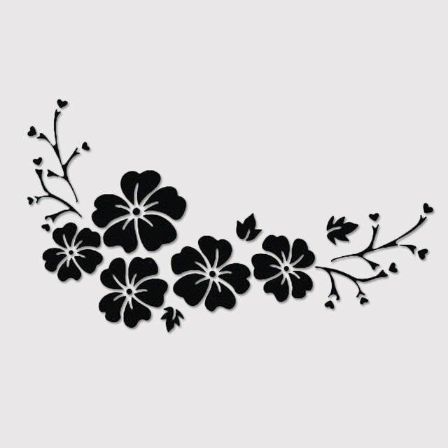 Dewtreetali Baru 30*14 Cm Tahan Air Stiker Ukiran Bunga
