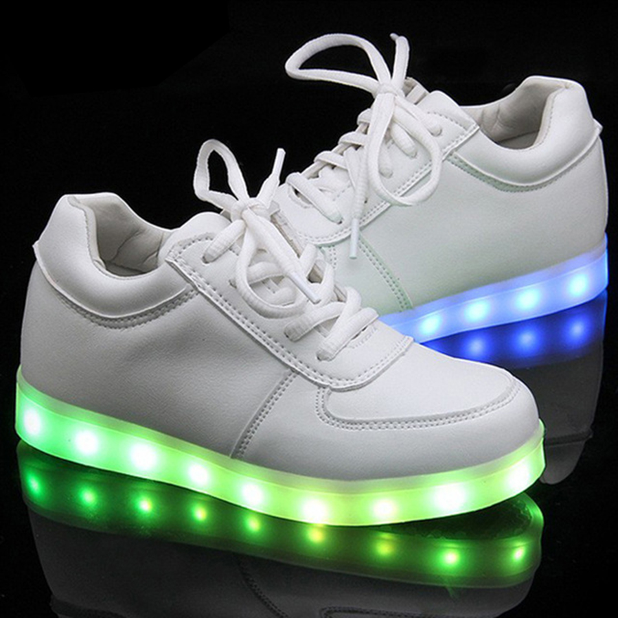 Colorful Luminous Shoes 2017 Girls Boys LED Sport Shoes USB charging Flashing Non-slip Casual Luminous Child Shoes Lights Up