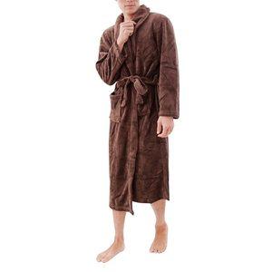 Image 5 - LITTHING Lovers Dress hombre mujer cálido Super suave franela Coral polar largo bata baño hombre Kimono Albornoz bata Batas