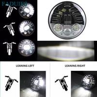 FADUIES 5 3/4 5.75 inch Adaptive Daymaker Projector Led headlight for Harley Sportster, Iron 883, Dyna, Street Bob FXDB