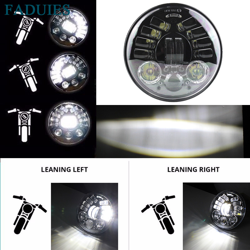 FADUIES 5-3/4 5.75 pouce Adaptatif Daymaker Projecteur Led phare pour Harley Sportster, Fer 883, dyna, Street Bob FXDB