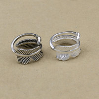 S925 Sterling Silver Couple Personality Retro Thai Silver Creative Ring Takahashi Goro Handmade Feather Silver Jewelry