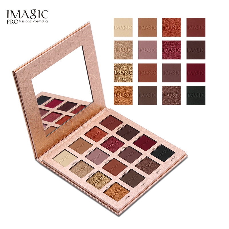 IMAGIC 16 Color Glitter EyeShadow Matt Eye Shadow Powder Palette Matt Eyeshadow Cosmetic Makeup maquiagem paleta de sombra beauty glazed makeup eyeshadow palette glitter diamond pigment glitter shimmer make up eye shadow sombra paleta de sombra