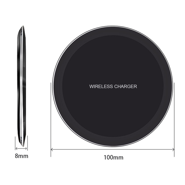 DCAE QI Wireless Charger For iPhone X 8 XS Max XR Samsung S9 S8 Plus Xiaomi Mix 3 2s Wireless Charging Pad Docking Dock Station 2