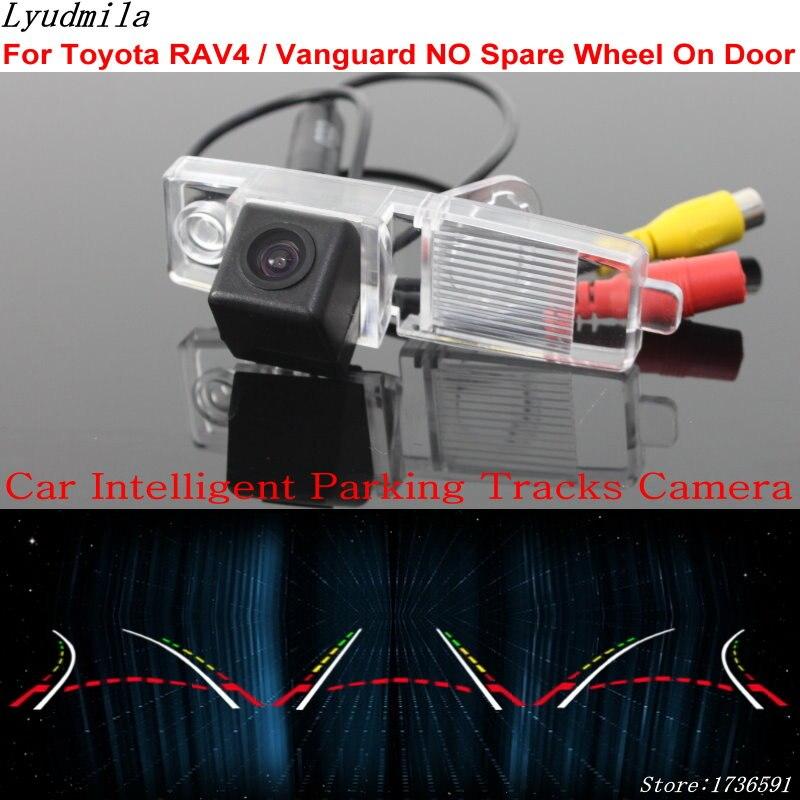 Lyudmila voiture Parking Intelligent pistes caméra pour Toyota RAV4/Vanguard pas de roue de secours sur porte voiture caméra de recul