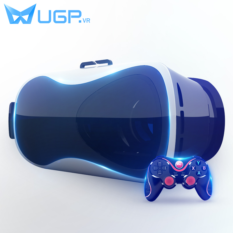 UGP V5 VR Virtual Reality 3D Glasses Google Cardboard Cinema Goggles With Bluetooth Gamepad For 3.5-6.0 Inch Smartphones