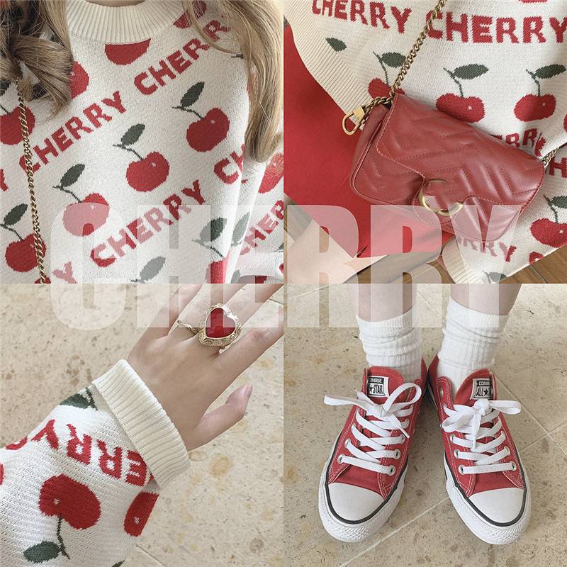 Cherry Sweater Pullover discount 8